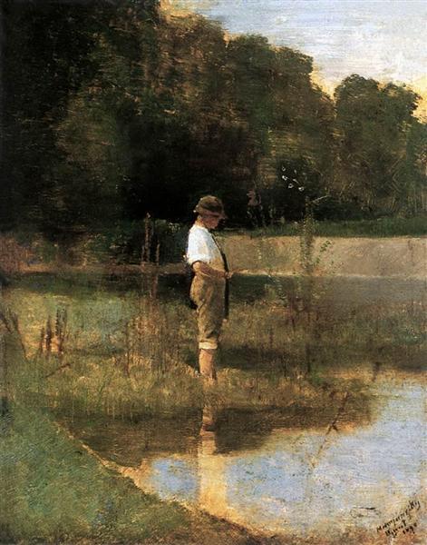 Angler, 1890 - Laszlo Mednyanszky