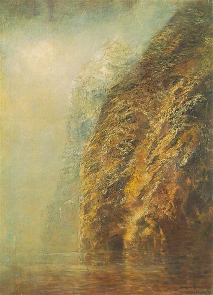 View of Dunajec, 1895 - László Mednyánszky