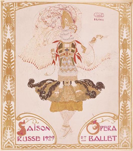 Front cover of Comoedia, 1909 - Leon Bakst