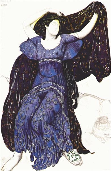 """""""Narcisse""""-  Nymph Echo, 1911 - Leon Bakst"""