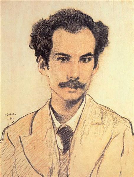 Portrait of Boris Nikolayevich Bugaev (Andrey Bely), 1905 - Leon Bakst