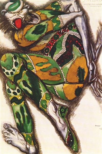 Sadko the Green Monster, 1917 - Leon Bakst