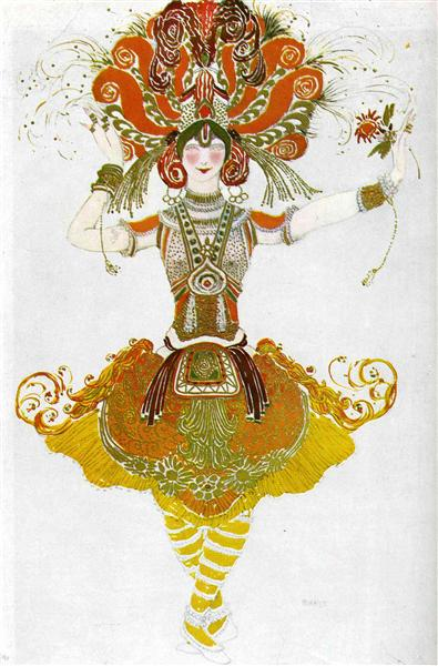 The Firebird, costume for Tamara Karsavina, 1910 - Léon Bakst