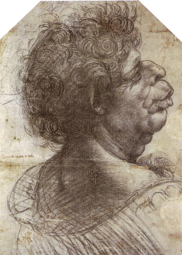 A Grotesque Head  Grotesque head, 1502