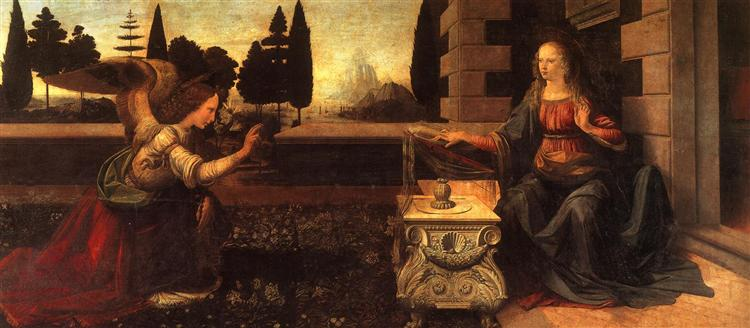 Annunciation, 1472 - Leonardo da Vinci