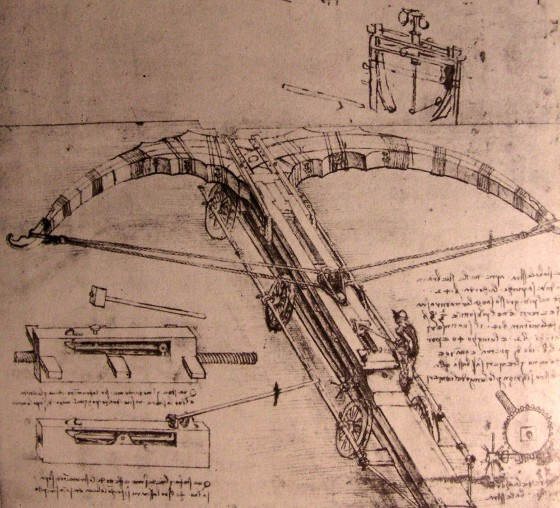 Design for an enormous crossbow, 1500