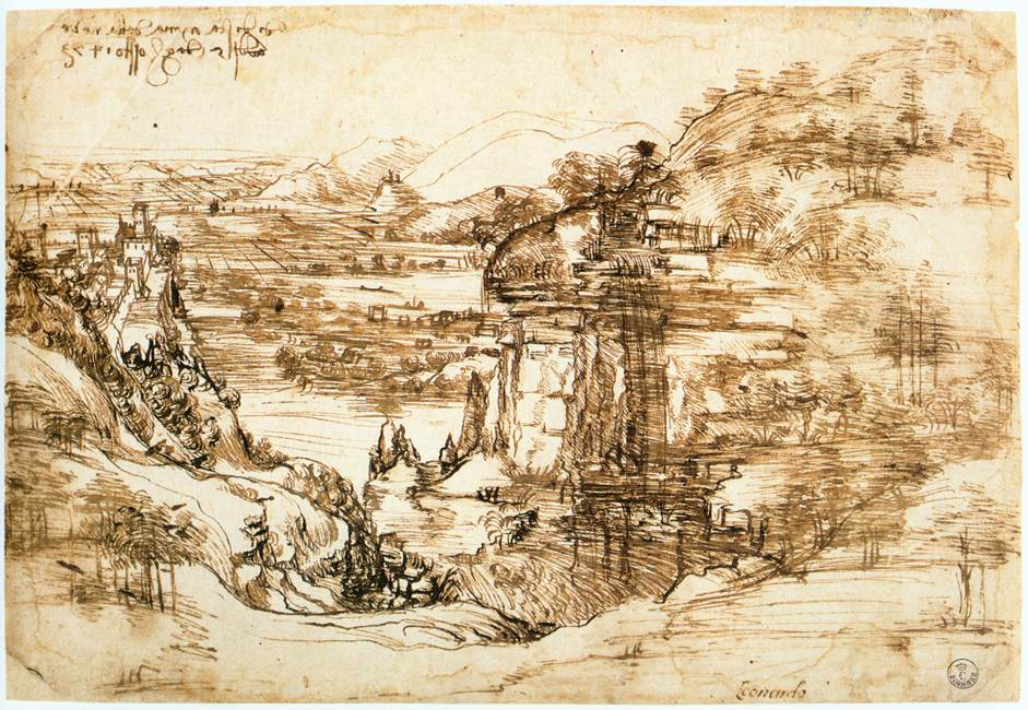 Landscape drawing for Santa Maria della Neve, 1473