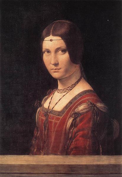 Portrait of an Unknown Woman (La Belle Ferroniere), c.1490 - Leonardo da Vinci