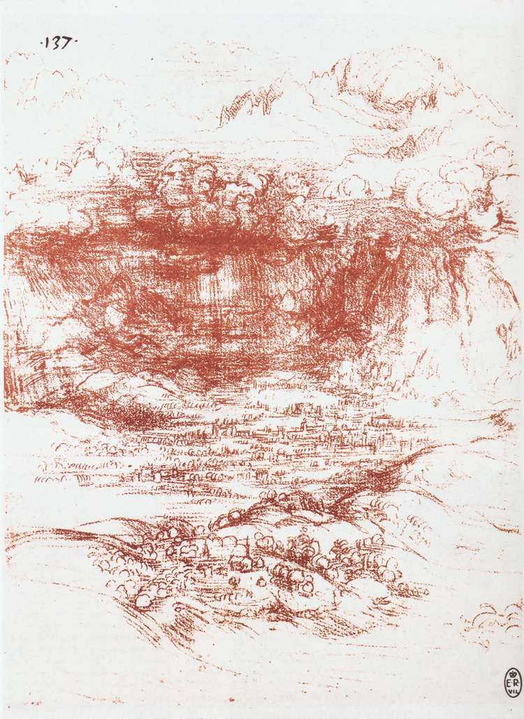 Storm over a landscape, 1500