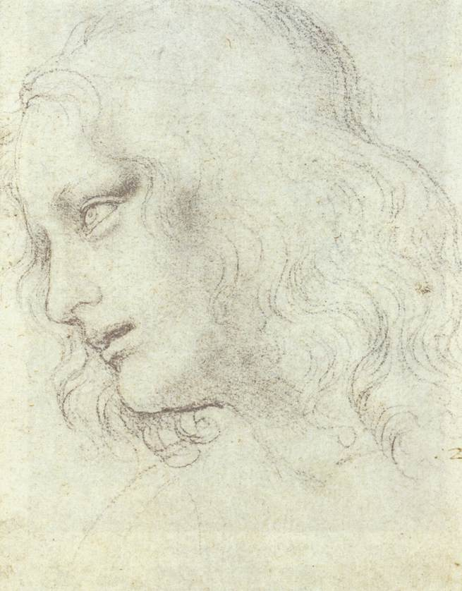 Study for the Last Supper: James, 1495