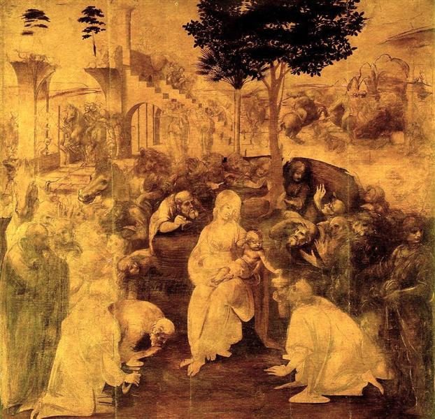 The Adoration of the Magi, 1480 - Leonardo da Vinci