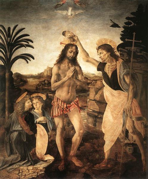 The Baptism of Christ, c.1475 - Leonardo da Vinci
