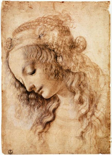 Woman's Head, c.1473 - Leonardo da Vinci