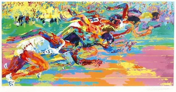 Olympic Track, 1970 - LeRoy Neiman