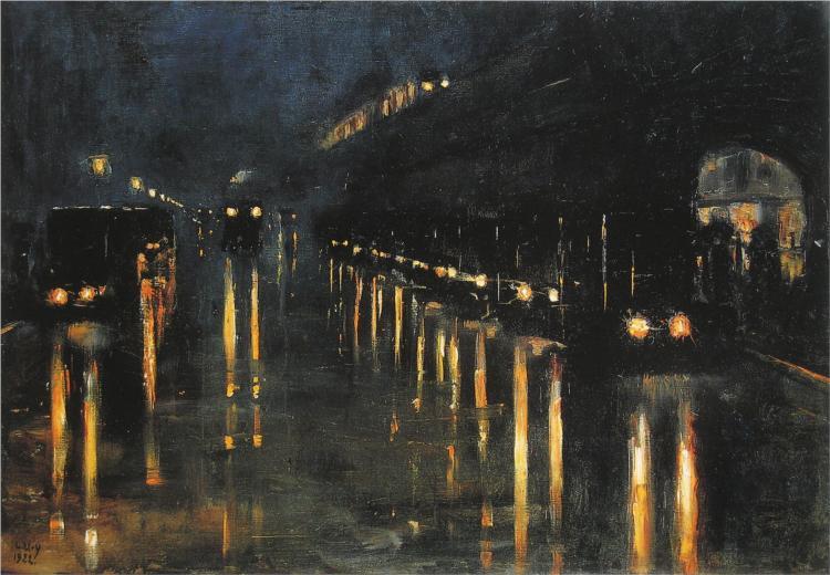 Hochbahnhof Bülowstraße, 1922 - Lesser Ury