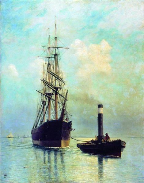 In the Gulf of Finland, 1881 - Lev Lagorio