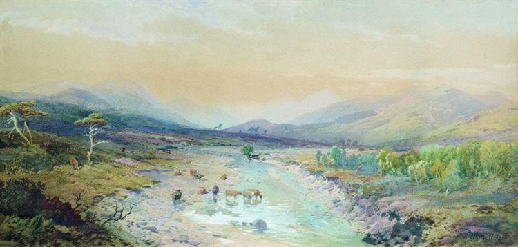 River in the foothills, 1889 - Lev Lagorio