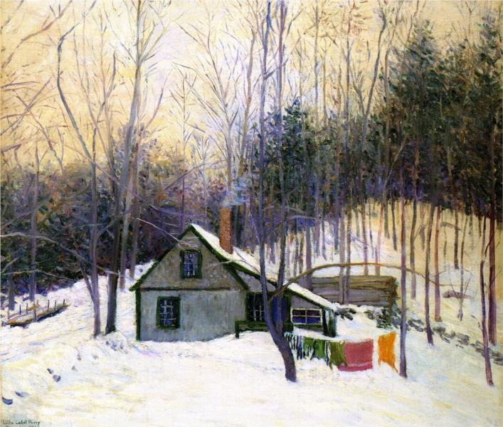 A Snowy Monday, 1926 - Lilla Cabot Perry