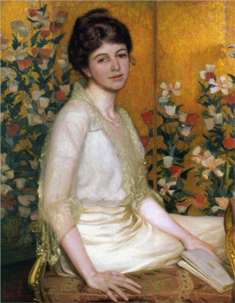 The Poppy Screen, 1915 - Lilla Cabot Perry