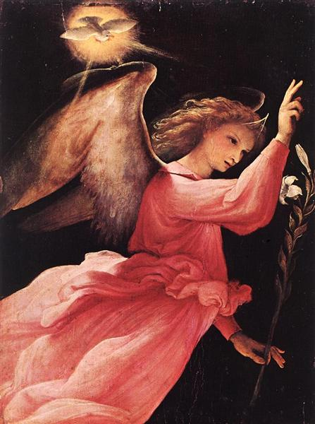 The Angel of the Annunciation, 1527 - Лоренцо Лотто