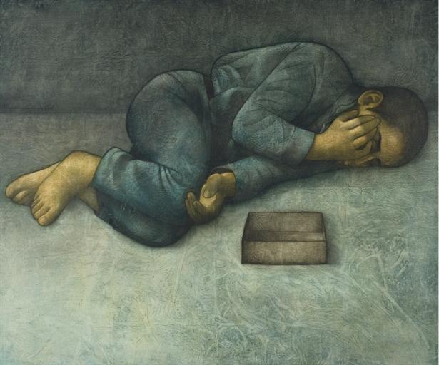 Sleeping Boy, 1972 - Louay Kayyali