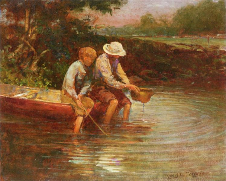 Boys Fishing, 1900 - Louis Comfort Tiffany