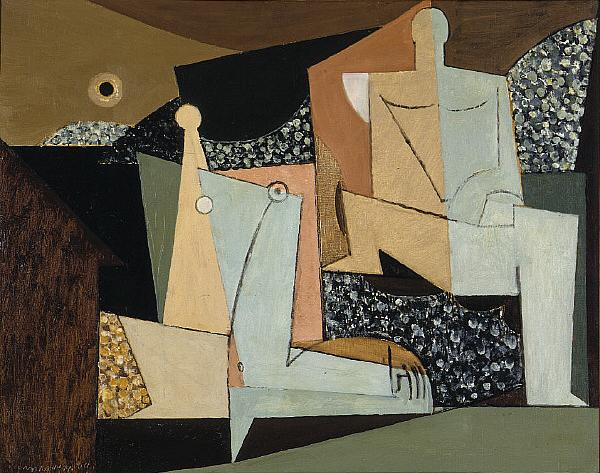 Figures on a Beach, 1930 - Louis Marcoussis