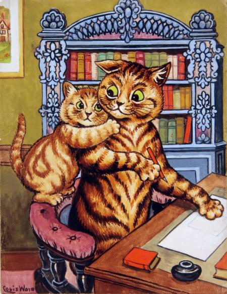 DADDY CAN YOU LET ME PASS ON YOUR LOVE TO MOTHER FROM ME - Louis Wain