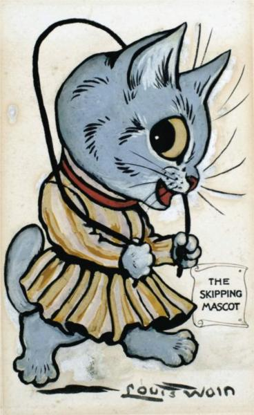 THE SKIPPING MASCOT - Louis Wain