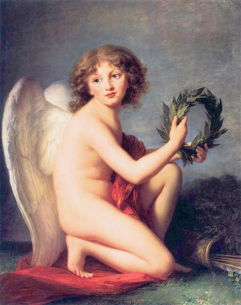 Portrait of Prince Henry Lubomirski as the Genius of Fame - Louise Elisabeth Vigee Le Brun