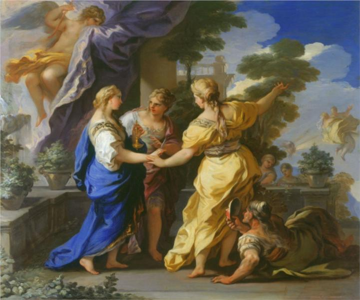 Psyche's Sisters Giving her a Lamp and a Dagger, 1697 - Luca Giordano