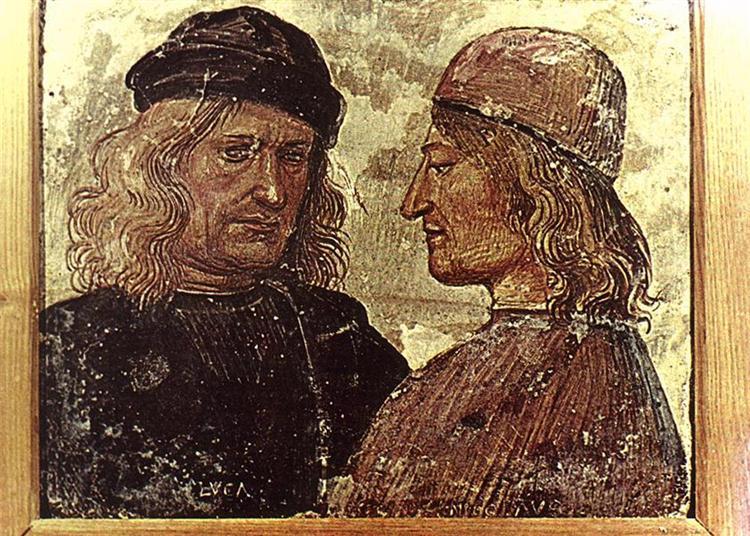 Self-portrait with Vitelozzo Vitelli - Luca Signorelli