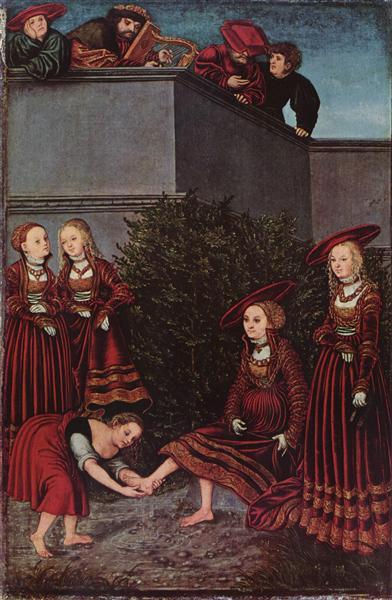 David und Bathseba, 1526 - Lucas Cranach der Ältere