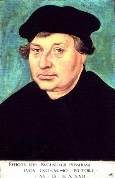Johannes Bugenhagen, 1537 - Lucas Cranach l'Ancien