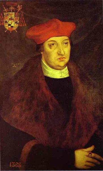 Portrait of Cardinal Albrecht of Brandenburg, 1526 - Lucas Cranach der Ältere