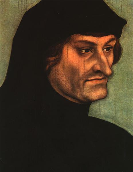Portrait of Geiler von Kaiserberg, c.1525 - Lucas Cranach der Ältere