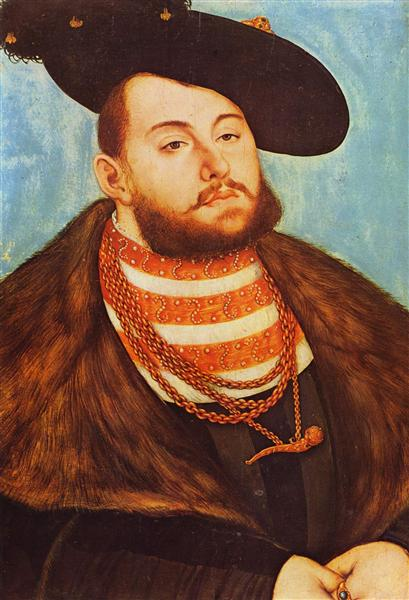 Portrait of Johann Friedrich, Elector of Saxony, 1531 - Lucas Cranach der Ältere