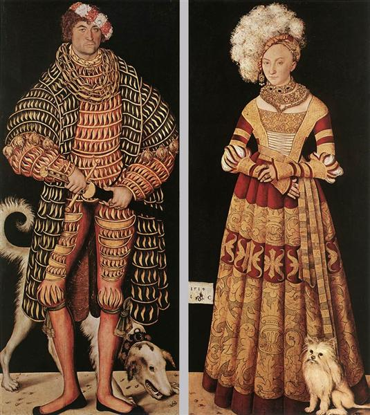 Portraits of Henry the Pious, Duke of Saxony and his wife Katharina von Mecklenburg, 1514 - Lucas Cranach der Ältere