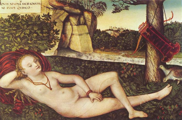 Reclining Diana, c.1515 - Lucas Cranach the Elder