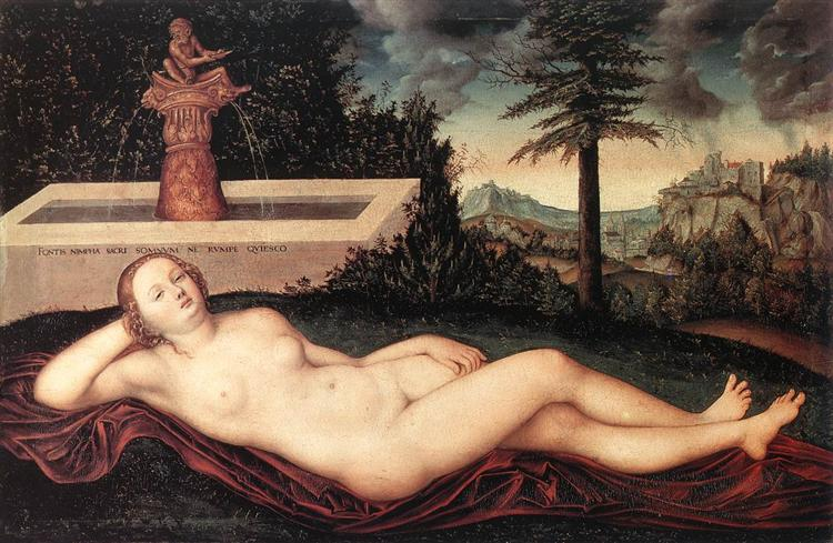 Reclining River Nymph at the Fountain, 1518 - Lucas Cranach the Elder
