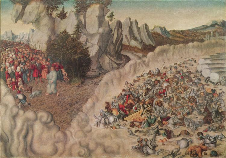 Sinking Of The Pharaoh In The Red Sea, 1530 - Lucas Cranach der Ältere