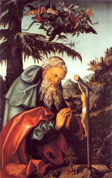 St. Anthony, 1520 - Лукас Кранах Старший