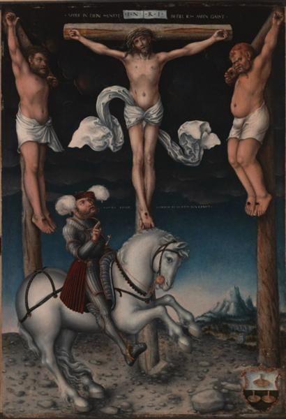 The Crucifixion with the Converted Centurion, 1538 - Lucas Cranach the Elder