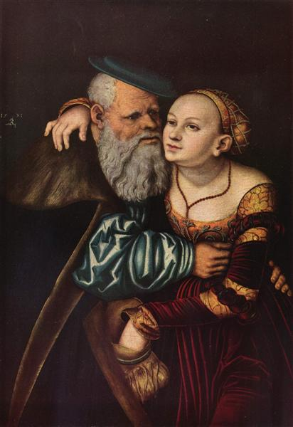 The old man in love, 1537 - Lucas Cranach der Ältere