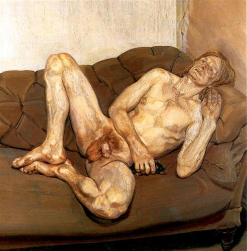 Naked Man with Rat - Lucian Freud