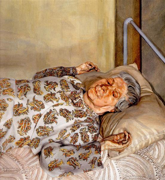 The Painter's Mother Resting I, 1975 - 1976 - Lucian Freud