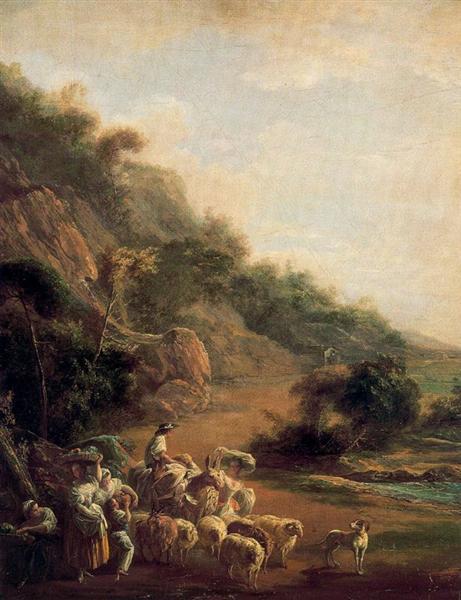 Village Scene, 1786 - Луис Парет-и-Алькасар