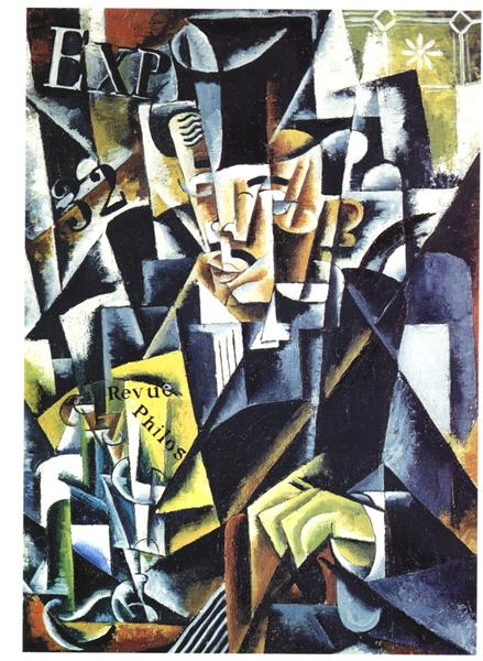 Portrait of a Philosopher, 1915 - Lyubov Popova