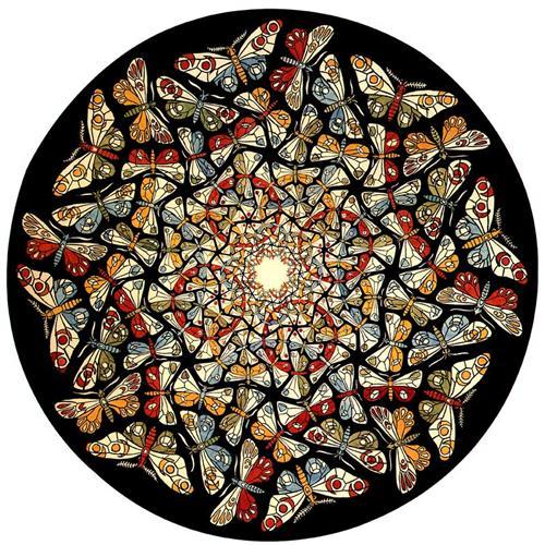 Círculo Límite con mariposas - MC Escher
