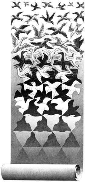Liberation, 1955 - M.C. Escher